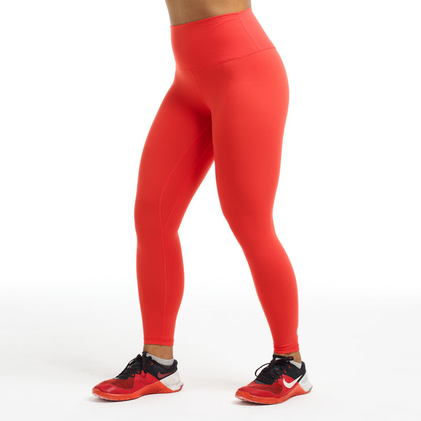 Halo x LIFTED 7/8 Squat Stretch Leggings in Coral Flame