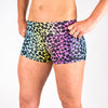 Halo Rainbow Giraffe High Rise Roll Down Booty Shorts