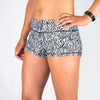 Halo Zebra High Rise Roll Down Booty Shorts