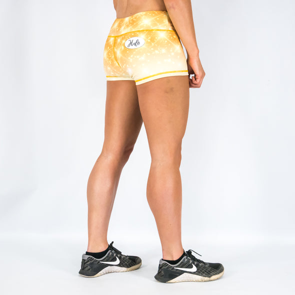 Halo Gold Rush Mid Rise Booty Shorts