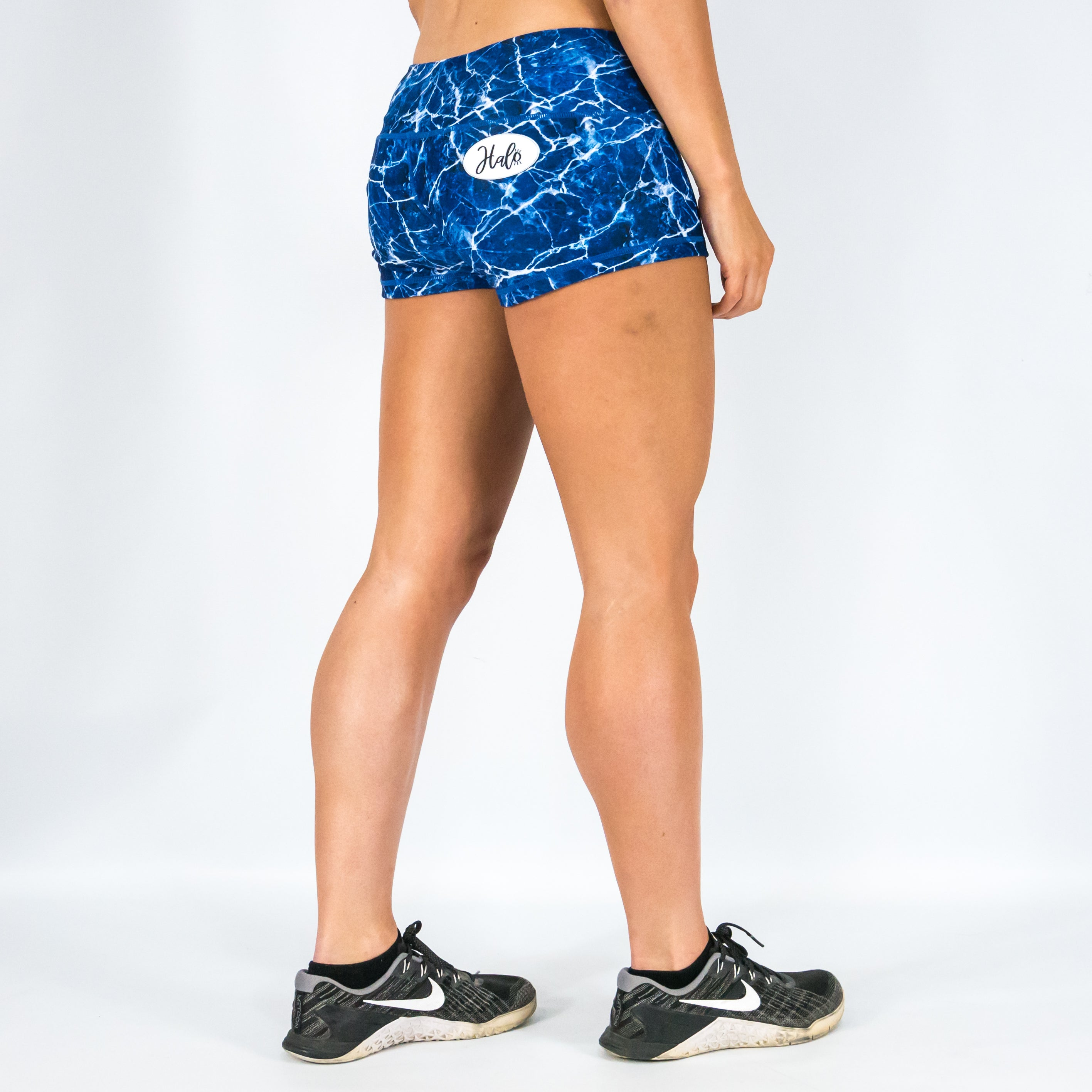 9317c02b2a0fb Halo Metamorphic Marble Low Rise Booty Shorts – Halo Fitness