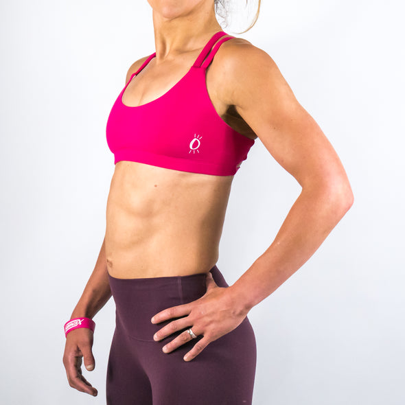 Halo Hot Pink Low Rise Sports Bra