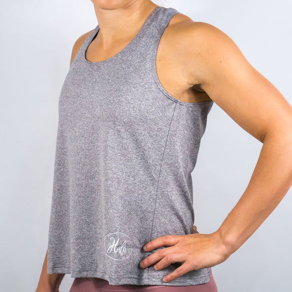 Halo X-Back Tank Heather Grey
