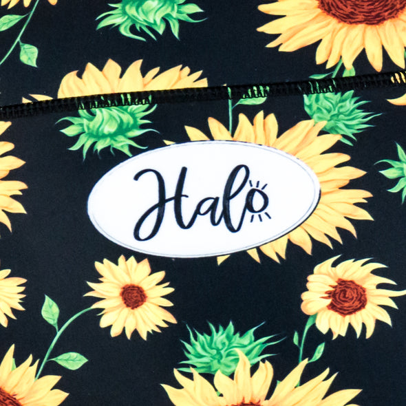Halo Sunflower High Rise Roll Down Booty Shorts