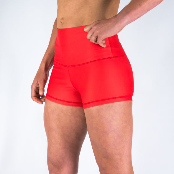 Halo Red Hot High Rise Roll Down Booty Shorts