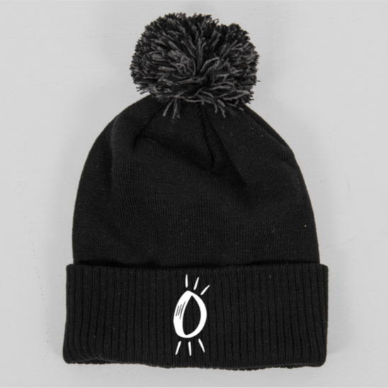 Built Up North x Halo Icon Pom Pom Black Beanie