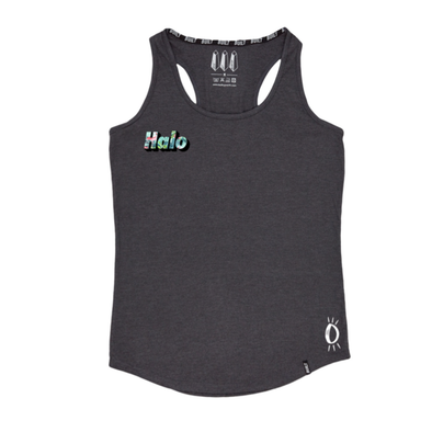 Built Up North x Halo Flamingo Charcoal Racer Back Vest