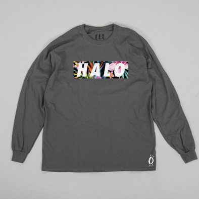 Built Up North x Halo Hibiscus Charcoal Crew Neck Sweatshirt