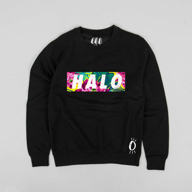 Built Up North x Halo Lotus Black Crew Neck Sweatshirt
