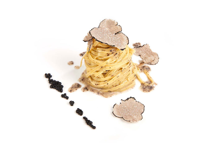 Tagliolini of Campofilone with Black Truffle and Black Truffle Sauce
