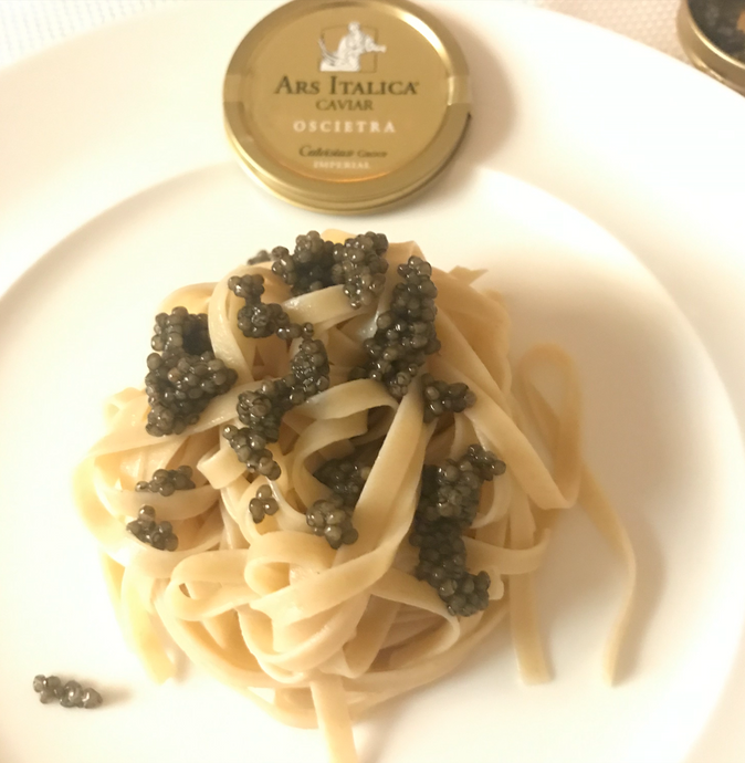 Steps to make Pasta with Calvisius Caviar