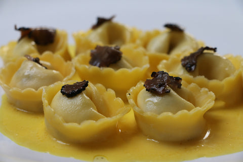 tortellini with truffle carpaccio