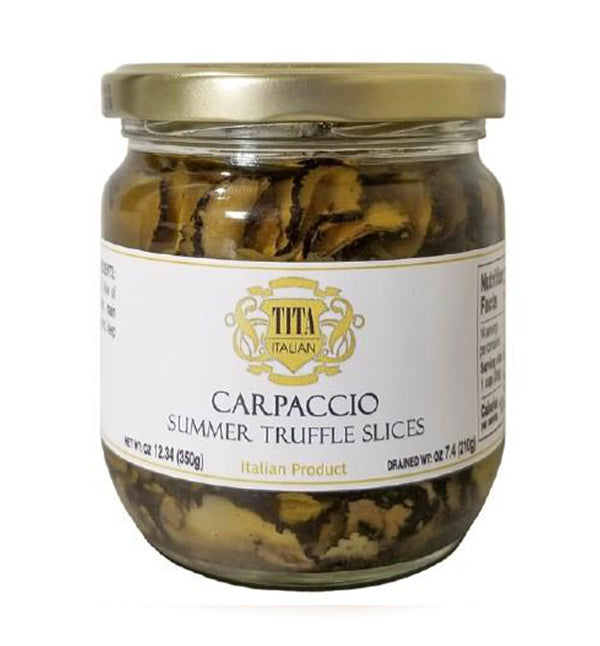 Summer Truffle Carpaccio Slices 12.35 oz. / 350 gr - Tita Italia