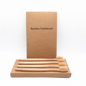 Eco-friendly Bamboo Toothbrush Set