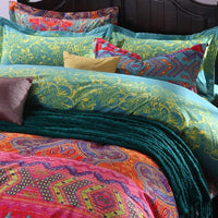 3Pcs Colorful Boho Bedding Set Bohemian Duvet Covers