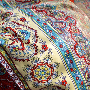 YOUSA Bohemia Retro Printing Bedding Ethnic Vintage Floral Duvet Cover Boho Bedding 100% Brushed Cotton Bedding Sets