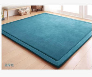 WINLIFE Coral Fleece Crawling Mat Children's Tea Table Full Shop Manual Bedroom Living Room Carpet Mat Thickeningrug