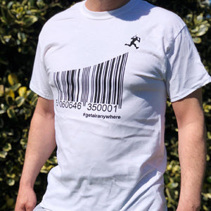 GETAIRANYWHERE BARCODE T-SHIRT - Scooter Hero