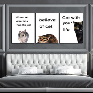 Abstract Cat Canvas Prints Wall Art 007 (1)