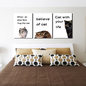 Abstract Cat Canvas Prints Wall Art 007 (3)