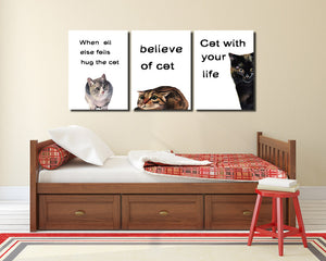Abstract Cat Canvas Prints Wall Art 007 (4)