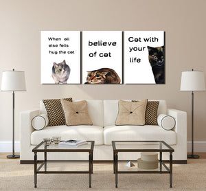 Abstract Cat Canvas Prints Wall Art 007 (2)