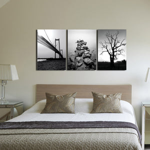 3 Panel Landscape Painting Canvas Prints-003(3)