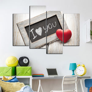 4 Panel I Love You Canvas Prints Oil Painting Wall Decor Art Picture-038 (2)
