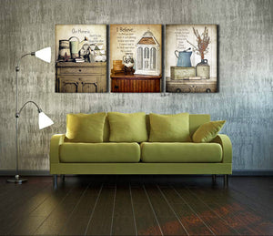 3 Piece Vintage Still Life Wall Print Painting Canvas Art Decor-025 (3)