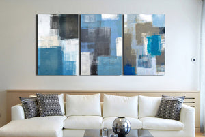 3 Panel Abstract Canvas Art Prints 002 (3)