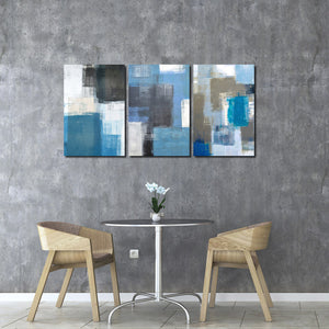 3 Panel Abstract Canvas Art Prints 002 (4)