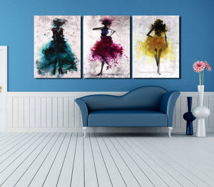 3 Piece Abstract Fashion Women Wall Canvas Prints-012 (2)