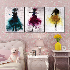 3 Piece Abstract Fashion Women Wall Canvas Prints-012 (3)