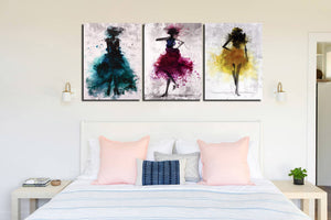 3 Piece Abstract Fashion Women Wall Canvas Prints-012 (4)