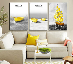 3 Piece Boat Canvas Art Prints-015 (1)