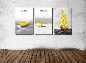 3 Piece Boat Canvas Art Prints-015 (3)
