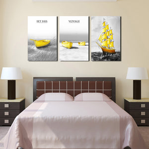 3 Piece Boat Canvas Art Prints-015 (4)