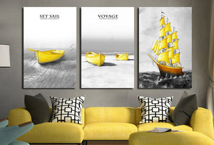3 Piece Boat Canvas Art Prints-015 (2)