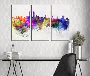 3 Piece Modern Abstract City Print Canvas Painting- 023(3)