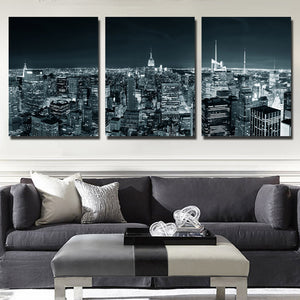 3 Piece New York City Building Wall Art Picture Canvas Print Painting-103 (1)