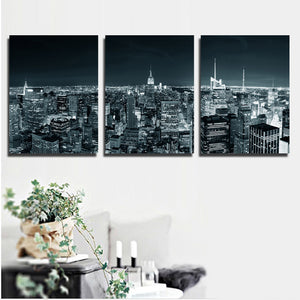 3 Piece New York City Building Wall Art Picture Canvas Print Painting-103 (2)