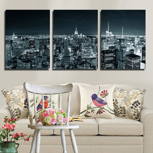 3 Piece New York City Building Wall Art Picture Canvas Print Painting-103 (4)