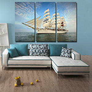 3 Piece Oil Painting Canvas Print Seascape Sailing Picture Wall Art-104 (4)