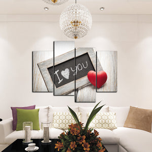 4 Panel I Love You Canvas Prints Oil Painting Wall Decor Art Picture-038 (3)