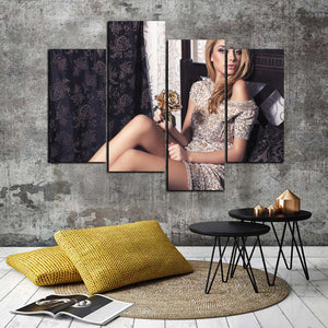 4 Panel Sexy Girl Canvas Print Wall Art-049 (2)