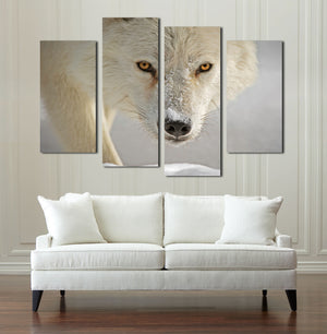 4 Panel White Wolf Picture Animal Art Canvas Print-032 (2)