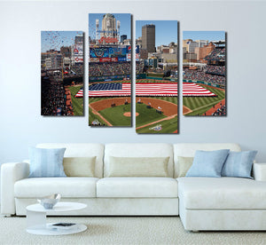 4 Piece Baseball Field Canvas Prints Wall Art-042 (1)