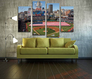 4 Piece Baseball Field Canvas Prints Wall Art-042 (2)