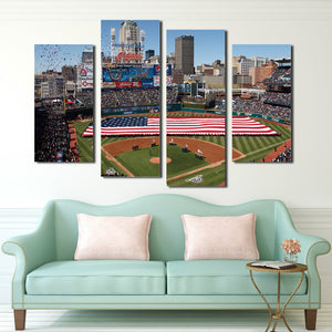 4 Piece Baseball Field Canvas Prints Wall Art-042 (3)