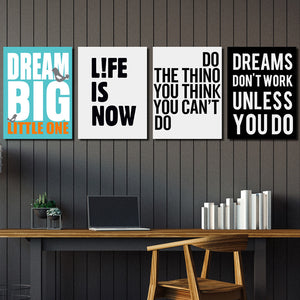 4 Piece Dream Big Little One Canvas Wall Art Prints Poster Picture-022 (1)